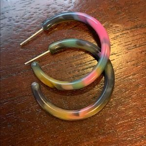 Urban Outfitters small tie dye hoop earrings